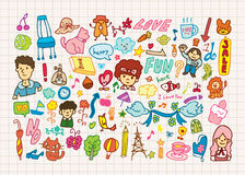 Hand draw cute cartoon element Stock Photos
