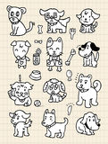 Hand draw cute dog element. Vector illustration Royalty Free Stock Image