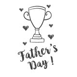 Hand draw design father day celebration. Vector illustration Royalty Free Stock Photography