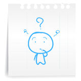 Dont know cartoon_on paper Note. Hand draw dont know cartoon_on paper Note Royalty Free Stock Photos