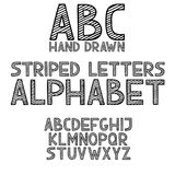 Hand draw doodle abc, alphabet grunge type font vector illustration Royalty Free Stock Images