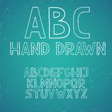 Hand draw doodle abc alphabet vector letters Royalty Free Stock Photos