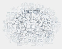 Hand draw doodle elements. Business finance chart graph.  Royalty Free Stock Photos
