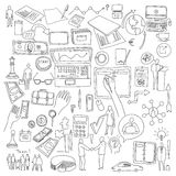 Hand draw doodle elements. Business finance chart graph.  Stock Image