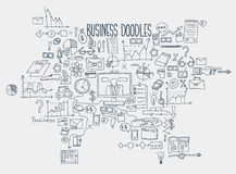 Hand draw doodle elements. Business finance chart graph.  Stock Photography