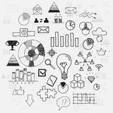 Hand draw doodle elements business scetches Stock Images