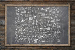 Hand draw doodle elements money and coin icon, Royalty Free Stock Photo