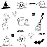 Hand draw doodle Halloween stock Stock Images