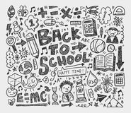 Hand draw doodle school element Stock Images