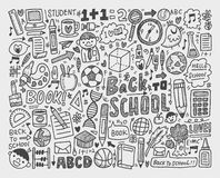 Hand draw doodle school element Royalty Free Stock Photography