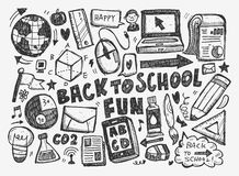 Hand draw doodle school element Royalty Free Stock Photos