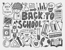 Hand draw doodle school element. Vector illustration file Royalty Free Stock Photography