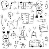 Hand draw doodles element school Royalty Free Stock Image