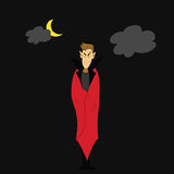 Hand draw dracula halloween cartoon character Stock Image