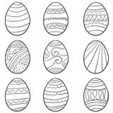 Hand draw easter egg doodle set. Vector art Royalty Free Stock Photos