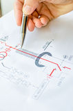 Hand draw electric scheme Royalty Free Stock Image