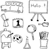 Hand draw element school doodles Royalty Free Stock Photo