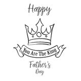 Hand draw father day card style. Vector illustration Royalty Free Stock Photos