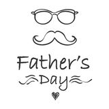 Hand draw father day celebration style. Vector illustration Stock Photo