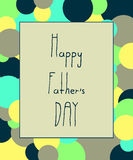 Hand draw for Father s day card. Vector illustration. Royalty Free Stock Photography