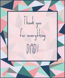 Hand draw for Father s day card. Vector illustration. Stock Images