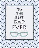 Hand draw for Father s day card. Vector illustration. Stock Image