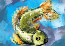 Hand draw fish Royalty Free Stock Image