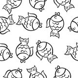 Hand draw fish doodle style. Vector illustration Royalty Free Stock Photography