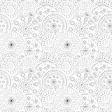 Hand draw floral pattern Stock Photos