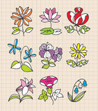 Hand draw flower Stock Photos