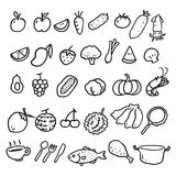 Hand draw food, vector Stock Photos