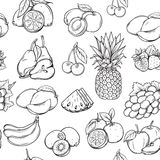 Hand draw fruits pattern Royalty Free Stock Photo