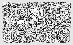 Hand draw funny element stock illustration