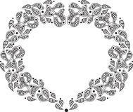 Hand draw ginger heart border Royalty Free Stock Photography