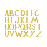 Hand draw gold alphabet letters under the classical bias. To design greeting cards, posters, banners, labels for Web sites, icons Royalty Free Stock Images