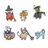 Hand draw halloween cartoon Stock Photos