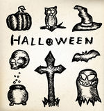 Hand draw halloween Stock Image