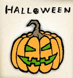 Hand draw halloween pumpkin Stock Image