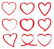 Hand draw heart vector Royalty Free Stock Images