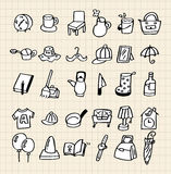 Hand draw home icon Stock Photography