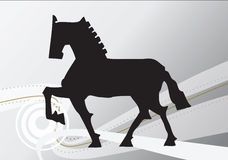 Hand draw horse. Hand draw illustration of a horse with abstract background Royalty Free Stock Photography