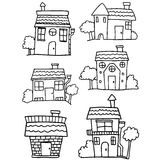 Hand draw of house collection Royalty Free Stock Photos
