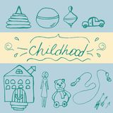 Hand draw icon of baby toy. Royalty Free Stock Photo