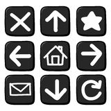 Hand draw icon set. Royalty Free Stock Photography