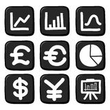 Hand draw icon set. Stock Images
