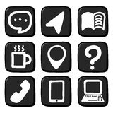 Hand draw icon set. Royalty Free Stock Images