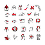 Hand draw icons Royalty Free Stock Image
