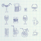 Hand draw icons Royalty Free Stock Images