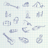 Hand draw icons Stock Photo
