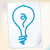 Idea on paper Note Stock Photography